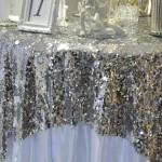 Свадебный декор с пайетками