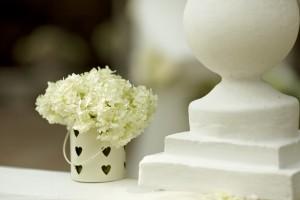 гортензия в свадебном декоре